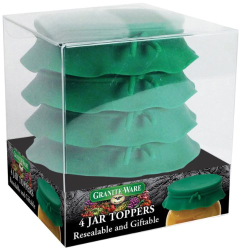 Granite Ware F0724-4 Silicone Jar Toppers, Green, Set of 4