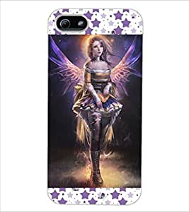 ColourCraft Lovely Angel Design Back Case Cover for APPLE IPHONE 5