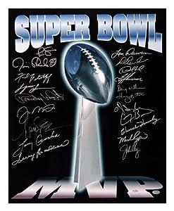 Super Bowl MVP Autographed Trophy 16