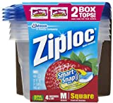 Ziploc Medium Square Snap N Seal Lid 32 oz Containers 4 ct