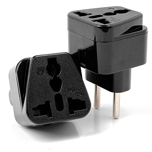 Neuftech 2x adaptateur universel prise electrique pour union europ enne france eu allemagne - Adaptateur de prise pour les usa ...