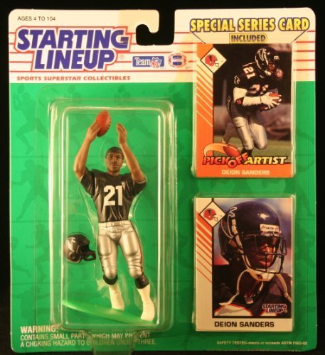 1993 Deion Sanders Atlanta Falcons Kenner SLU Starting Lineup NFL Football figure by Kenner online kaufen