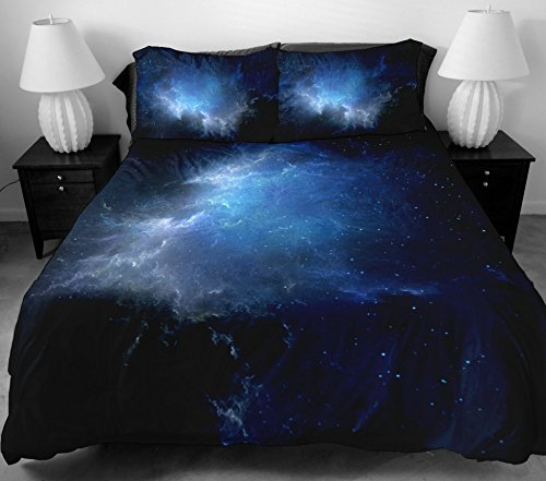 Anlye Teen Bedding Set 2 Sides Printing The Navy Blue Star Duvet Covers With Matching Design 2 Pillow Cases For Bedroom Furniture Queen front-867413