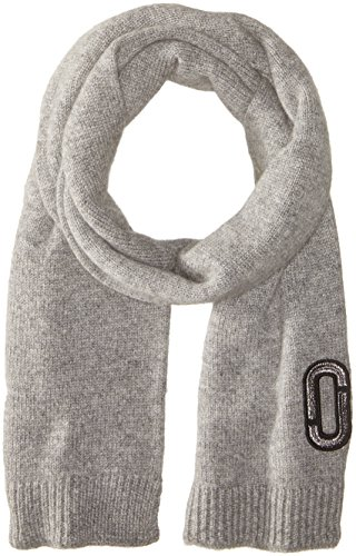 Marc-Jacobs-Womens-Classic-Cashmere-Scarf-In-Grey