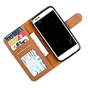 i-KitPit PU Leather Wallet Flip Case Cover For Samsung Galaxy S2 (Brown)