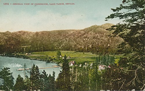POSTER General view of Glenbrook Lake Tahoe collection postcards id 1595 Historic sites Parks Lakes ponds Nevada--Glenbrook Miami Wall Art Print A3 replica