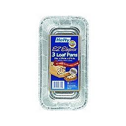 Hefty Foil Loaf Pan Dw Safe, Rectangular 9.3\