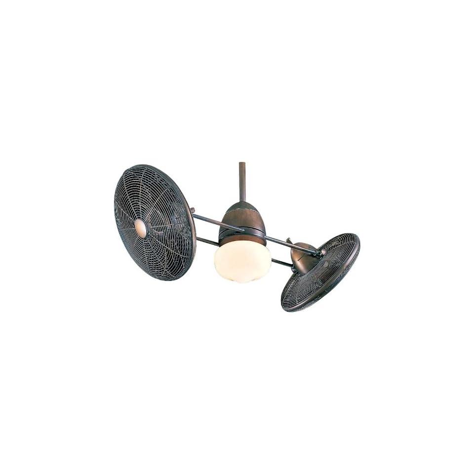 Minka Aire Vintage Gyro Brushed Nickel/Chrome Ceiling Fan