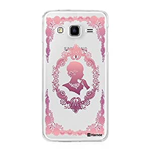 Hamee Designer Cover Thin Fit Crystal Clear Plastic Hard Back Case for Samsung Galaxy J5 (Flower Girl / Pink)
