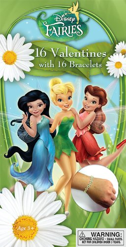 Paper Magic Tinker Bell Deluxe Valentine Cards with Bonus Bracelet (16 Count)