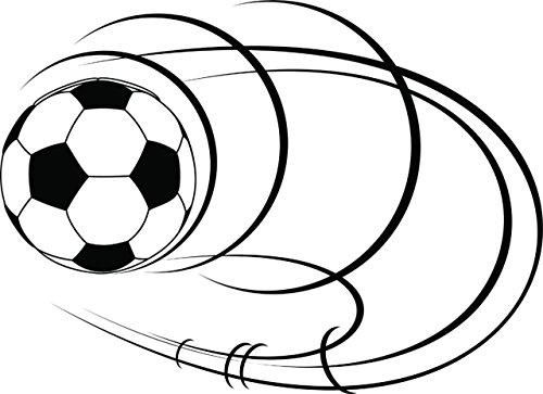 Design with Vinyl sept 230-271 Decor Item Soccer Ball Picture Art Kids Boys Bed Room Peel and Stick Sticker Vinyl Wall Decal, 20-Inch x 20-Inch, Black