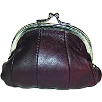Leather Change Purse Brown Y970