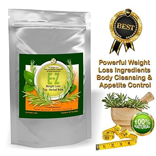 Lose Weight Naturally, Increase Metabolism and Control Appetite. Made From the Highest Quality 100% Herbal Ingredients, Caffeine Free. Easy E-Z Herbal Weight Loss Tea Purifies the Body from Waste and Toxins, Lowers Hunger, Helps to Get Rid of Excess ...
