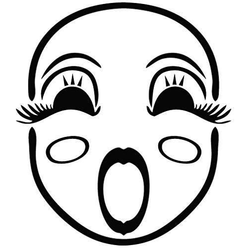 Mask Sign Song - Cartoon Decal Vinyl Removable Decorative Sticker for Wall, Car, Ipad, Macbook, Laptop, Bike, Helmet, Small Appliances, Music Instruments, Motorcycle, Suitcase