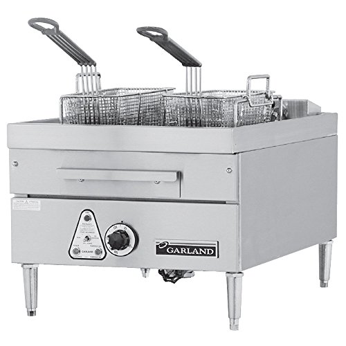 208V Single Phase Garland E24-31F 30 Lb. Commercial Countertop Electric Deep Fryer - 12 Kw