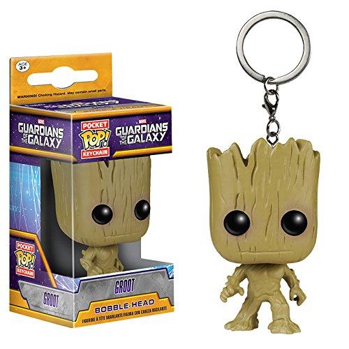 Guardians of the Galaxy - portachiavi Groot - stile Funko Pop - confezione con finestrella trasparente - 4 cm