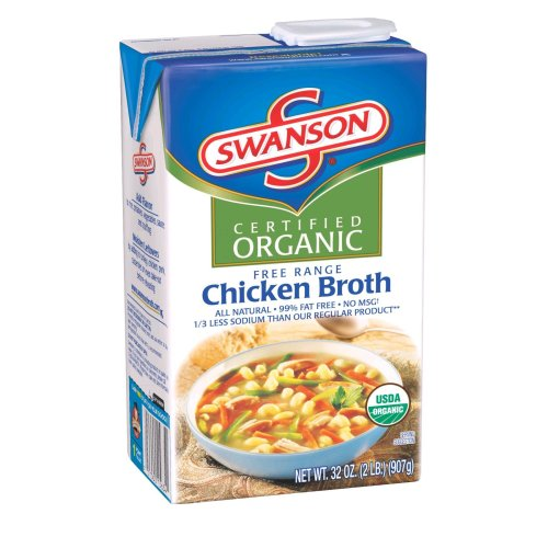 Swanson Organic Chicken Broth, 32-Ounce Aseptic Box (Pack of 12)