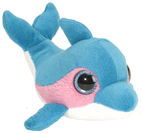 Wild Republic L'Il Sweet & Sassy Dolphin Blue Raspberry Plush