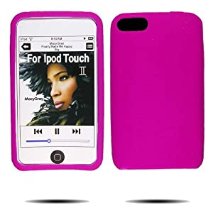 Hot Pink Silicone Skin Case / Rubber Soft Sleeve Protector Cover For Ipod Touch II, 2nd Generation