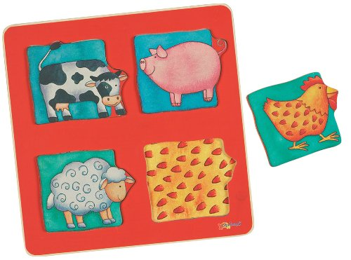 Small World Express Chelona Illustrated Puzzles Farm Animal Puzzle - 1