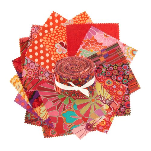 Classics by Kaffe Fassett 2.5'' Design Roll Red (Kaffe Jelly Roll compare prices)