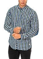 Mc Gregor Camisa Hombre (Blanco / Verde / Azul)
