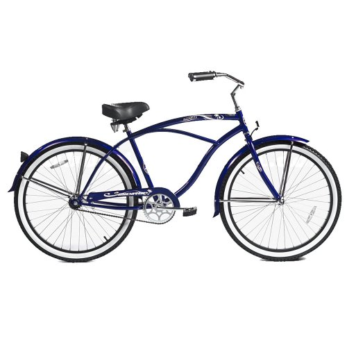 Micargi Tahiti Beach Cruiser, Dark Blue, 26-Inch