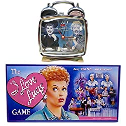 I Love Lucy Clock & Board Game Gift Bundle [2 Piece]