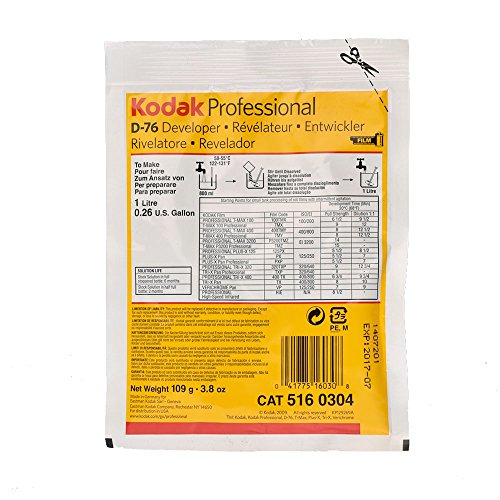 Kodak D-76 Developer Powder, B and W Film 1 Gallon (Film Developers compare prices)