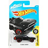 Hot Wheels 2017 Experimotors Fast & Furious '70 Dodge Charger 4/365, Black