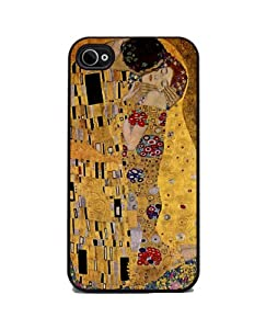 The Kiss by Gustav Klimt - iPhone 4 or 4s Cover, Cell Phone Case