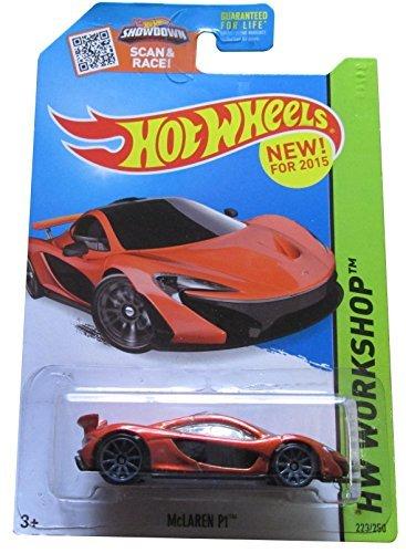 Hot Wheels, 2015 HW Workshop, McLaren P1 [Dark Orange] Die-Cast Vehicle #223/250, 1:64 Scale - 1