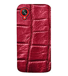 wine coloured leather pattern 3D Hard Polycarbonate Designer Back Case Cover for LG Google Nexus 5 :: LG Google Nexus 5 (2014 1st Gen)