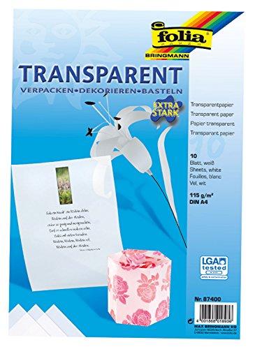 Folia-87400-Transparentpapier-DIN-A4-10-Blatt-wei