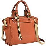 MG Collection SASHA Classic Gold Studded Accents Satchel Handbag w/ Shoulder Strap