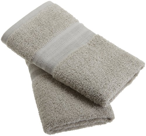 1888 Mills 100-Percent Organic Cotton Oversized Hand Towel Set of 2, Stone Gray (Towel Made In Usa compare prices)