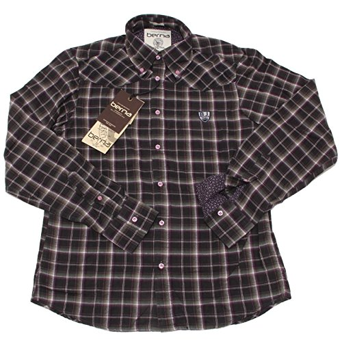 4622P camicia uomo BERNA flannel manica lunga shirt men long sleeve [S]