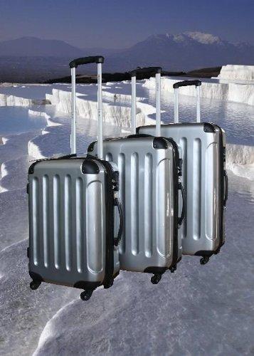 Koffer Kofferset Reisekoffer Hartschale SILBER