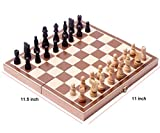 Darius Folding Wooden Chess Set With Magnet Closure Folding Tournament Game Board