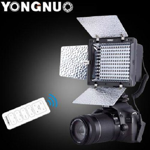 Yongnuo Yn-160 Ii Led Video Light Lamp With Condenser Mic For Canon Nikon Pentax Camera Dv Camcorder + Remote Control