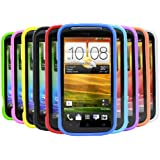 iTALKonline SoftSkin 10 Stück LILA ROT LIGHT BLAU Grün DARK BLAU Grün GELB SCHWARZ weiß ORANGE ROSA Silicone Protective Armour / Case / Skin / Cover / Shell für HTC Desire X DesireX