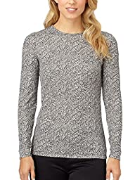 Cuddl Duds Women's Softwear Lace Edge V-Neck Top
