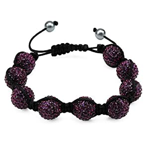 Silk Crystal and Simulated Gems Ladies Bracelet. Total Item weight 24.2 g.