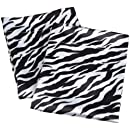 Royal Opulance Satin Pillow Case Pairs Zebra Blackwhite