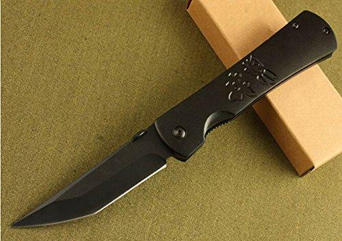 Black Tactical Folding Survival Pocket Knife Glby-7.95''