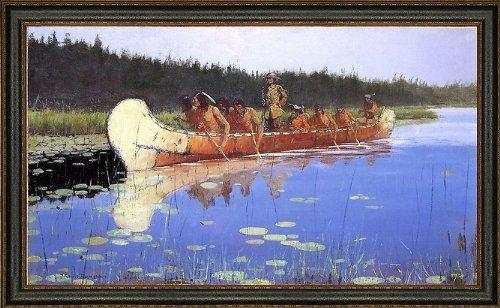 frederic-remington-radisson-and-groseilliers-185-x-275-framed-premium-canvas-print