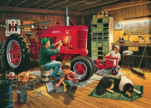 Masterpieces Puzzle Company Case/Ih Forever Red Jigsaw Puzzle (1000-Piece), Art By Charles Freitag front-700003