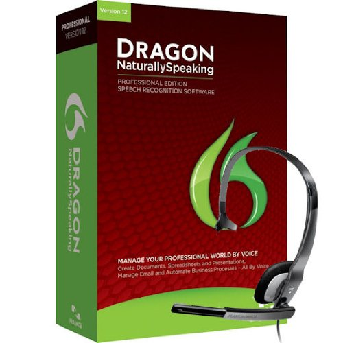 Nuance Dragon Naturallyspeaking Professional 12 Speech Recognition Software With Microphone