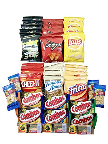 Best Selling Snack Pack -11 Varieties of 41 Crunchy Snacks in 1 Bundle -Perfect As a College Care Pack & New Year Gift – Snacks for Soldiers, College Students, Athletes, Campers & Hikers image