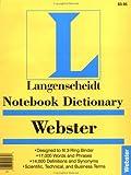 Notebook Webster's Dictionary (0887290744) by Langenscheidt